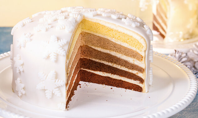 Ombré torta za Božić
