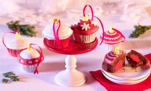 Muffini kao božićne kuglice