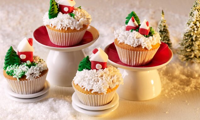 Božićni ukrasi na muffinima